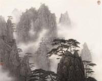 黄山松 镜心 设色纸本 - 17370 - 中国书画(一) - 2006春季拍卖会 -中国收藏网
