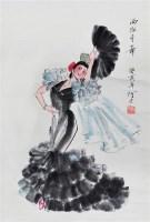 人物 纸本 立轴 - 阿老 - 中国书画(二)无底价专场 - 天目迎春 -收藏网
