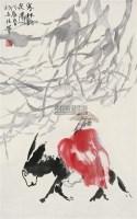 寒林访友图 立轴 设色纸本 - 张立柱 - 中国书画(一) - 2010年秋季艺术品拍卖会 -收藏网