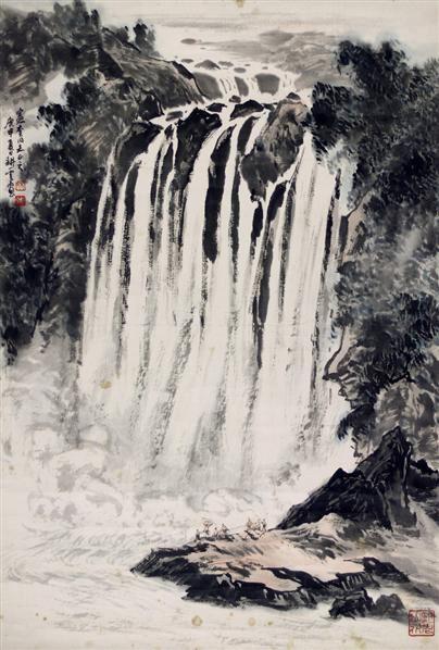瀑布 - 141334 - 2010上海宏大秋季中国书画拍卖会 - 2010上海宏大秋季中国书画拍卖会 -收藏网