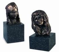 潘 鹤  头像(两件一组) -  - 当代中国雕塑专场 - 2008年秋季艺术品拍卖会 -中国收藏网