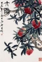 大寿 立轴 设色纸本 - 娄师白 - 中国书画(一) - 2010年秋季艺术品拍卖会 -收藏网