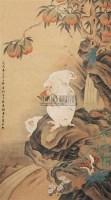 猴实图 立轴 纸本 - 蒋廷锡 - 中国书画(下) - 2010瑞秋艺术品拍卖会 -收藏网