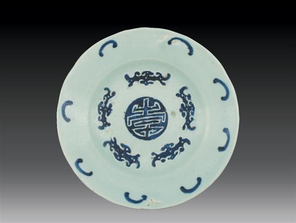 清·乾隆 豆青釉五福捧寿花口盘 -  - 瓷玉珍玩 - 2006艺术精品拍卖会 -中国收藏网
