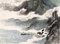 巴船出峡 镜心 设色纸本 -  - 近现代书画 - 2006夏季书画艺术品拍卖会 -中国收藏网