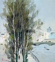塞纳河风景 布面油画 - 吴冠中 - 中国油画  - 2010年秋季艺术品拍卖会 -收藏网