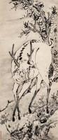 高其佩(1672~1734)  芝鹿吉祥 - 高其佩 - 古代作品专场 - 2005秋季大型艺术品拍卖会 -收藏网
