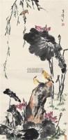 荷塘清趣 立轴 设色纸本 - 王雪涛 - 中国近现代书画(二) - 2010秋季艺术品拍卖会 -收藏网