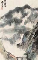 青鸾桥 镜框 设色纸本 - 程十发 - 名家小品暨册页专场 - 2010秋季艺术品拍卖会 -中国收藏网