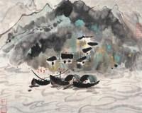 山水 (一件) 册页 (一开) 纸本 - 吴冠中 - 字画下午专场  - 2010年秋季大型艺术品拍卖会 -收藏网