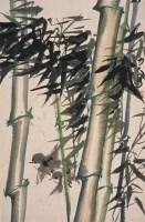 郑力人      竹林飞雀 -  - 中国书画  - 2010浦江中国书画节浙江中财书画拍卖会 -收藏网