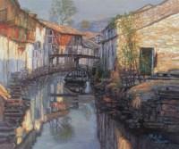 水乡 布面  油画 - 陈逸飞 - 华人西画 - 2006年度大型经典艺术品拍卖会 -收藏网