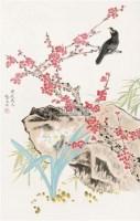 花鸟 立轴 纸本设色 - 龚文桢 - 中国当代书画 - 2010秋季艺术品拍卖会 -收藏网