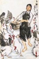 饲鸡图 片 纸本 - 7693 - 中国书画 - 2010秋季艺术品拍卖会 -收藏网