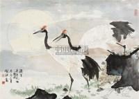仙鹤 镜心 设色纸本 - 喻继高 - 中国书画一 - 2010秋季艺术品拍卖会 -收藏网
