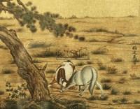 双骏 镜心 泥金 - 马晋 - 中国书画 - 2010秋季艺术品拍卖会 -收藏网