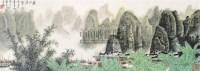 漓江渔家 立轴 纸本 - 白雪石 - 中国书画 - 2010年秋季书画专场拍卖会 -中国收藏网