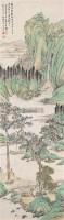 山水 立轴 纸本设色 - 吴榖祥 - 中国古代书画  - 2010秋季艺术品拍卖会 -收藏网