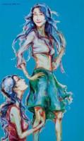 兩個少女 -  - 名家西画 当代艺术专场 - 2008年春季拍卖会 -中国收藏网