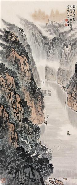 蜀江高秋图 立轴 纸本 - 5002 - 中国书画(下) - 2010瑞秋艺术品拍卖会 -收藏网