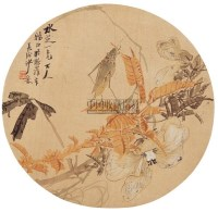 沙馥 花虫图 团扇面 设色绢本 - 沙馥 - 中国古代书画·瓷器杂件 - 2006艺术品拍卖会 -中国收藏网