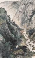 荒山新居 镜片 设色纸本 - 方济众 - 中国书画 - 2010秋季艺术品拍卖会 -中国收藏网