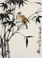 陆抑非(1908~1997) 竹雀图 - 陆抑非 - 中国书画近现代名家作品专场 - 2008年秋季艺术品拍卖会 -收藏网