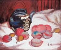 静物 油画 镜心 - 胡善余 - 名家书画·油画专场 - 2006夏季书画艺术品拍卖会 -收藏网