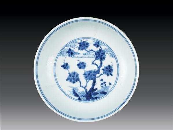 清·雍正 青花花卉盘 -  - 瓷玉珍玩 - 2006艺术精品拍卖会 -中国收藏网
