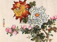 花卉 镜心 设色纸本 -  - 中国书画 - 第9期中国艺术品拍卖会 -收藏网