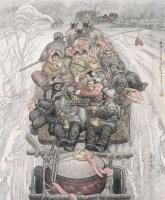 春雪 镜心 设色纸本 - 安杰 - 中国书画(一) - 2010年秋季艺术品拍卖会 -收藏网