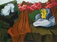 冷清的剧场中,花儿更显妩媚 - 156553 - 油画 - 2010年秋季拍卖会 -收藏网