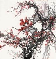 红梅 镜心 纸本设色 - 6234 - 中国当代书画 - 2010秋季艺术品拍卖会 -收藏网