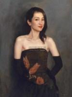 青春少女 布面油画 -  - 中国油画  - 2010年秋季艺术品拍卖会 -收藏网