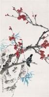 桃花幽禽 立轴 设色纸本 - 龚文桢 - 中国书画(一) - 2010年秋季艺术品拍卖会 -收藏网