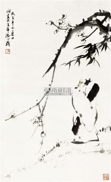 人物 立轴 纸本 - 67957 - 中国书画 - 2010秋季艺术品拍卖会 -收藏网