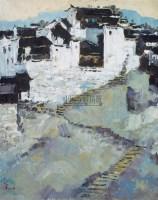 山村小景 木板油画 - 吴冠中 - 中国油画  - 2010年秋季艺术品拍卖会 -收藏网