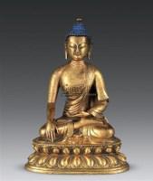铜鎏金释迦牟尼佛 -  - 古董珍玩 - 2010秋季艺术品拍卖会 -收藏网
