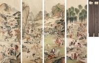 百骏图 立轴 绢本 - 马晋 - 文物公司旧藏暨海外回流 - 2010秋季艺术品拍卖会 -收藏网