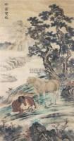 松荫双骏 立轴 纸本 -  - 文物公司旧藏暨海外回流 - 2010秋季艺术品拍卖会 -收藏网