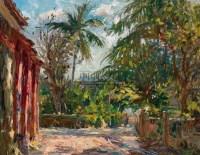 与寺庙为邻 布面油画 -  - 中国油画  - 2010年秋季艺术品拍卖会 -收藏网