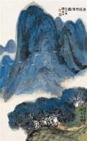 清荫待渡图 镜片 设色纸本 - 方济众 - 中国书画 - 2010秋季艺术品拍卖会 -中国收藏网