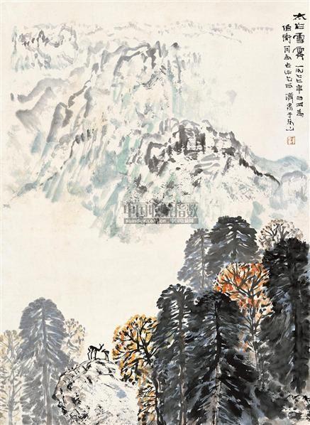 太白雪霁    立轴 设色纸本 - 4879 - 中国书画 - 2010秋季艺术品拍卖会 -收藏网