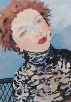 夏俊娜 女青年像 纸本水粉 - 夏俊娜 - (西画)当代艺术专题 - 2006年秋季精品拍卖会 -收藏网