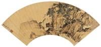 张  复(1546~1631)  溪桥策杖图 -  - 中国书画金笺扇面 - 2005年首届大型拍卖会 -收藏网