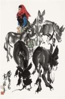 天山歌舞 镜心 设色纸本 - 7693 - 中国书画(二) - 2010年秋季艺术品拍卖会 -收藏网