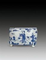 青花高士图筒式炉 -  - 瓷器 - 2010年秋季拍卖会 -中国收藏网