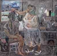 申玲 1991年作 我的家 - 132401 - 西画雕塑(上) - 2006夏季大型艺术品拍卖会 -收藏网