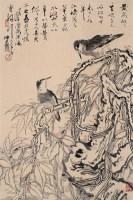 黄鸟翩翩 立轴 设色纸本 - 卢坤峰 - 当代书画 - 2006夏季书画艺术品拍卖会 -收藏网