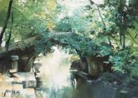 潘鸿海 河埠边的桥 布面油画 - 潘鸿海 - (西画)名家精品专题 - 2006年秋季精品拍卖会 -收藏网